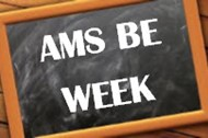 AMS BE Week Written on Chalkboard