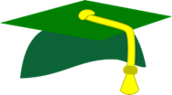 Green & Gold Graduation Cap