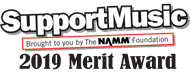SupportMusic Merit Award Logo