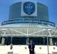 Derek Demel at International Science Fair