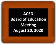 Board of Education Meeting on Chalkboard
