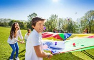Kids Playing Outdoor Games Photo