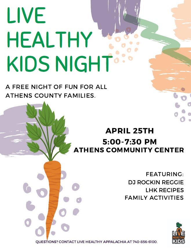 Live Healthy Kids Night Flyer
