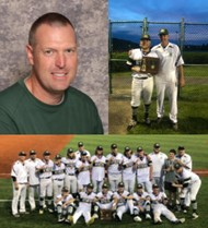 Coach Kyle Lonas with Baseball Team