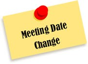 Meeting Date Change on Post-it Note with Push Pin