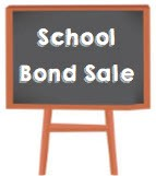 School Bond Sale Sign on Chalkboard