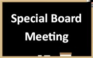 Special Board Meeting on Chalkboard