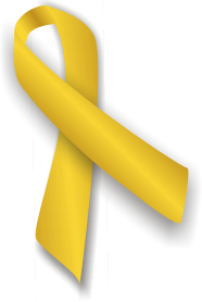 Gold Ribbon for Childhood Cancer Awareness