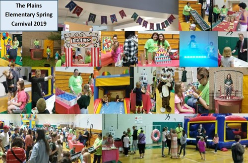 The Plains Elementary Spring Carnival Photo Collage