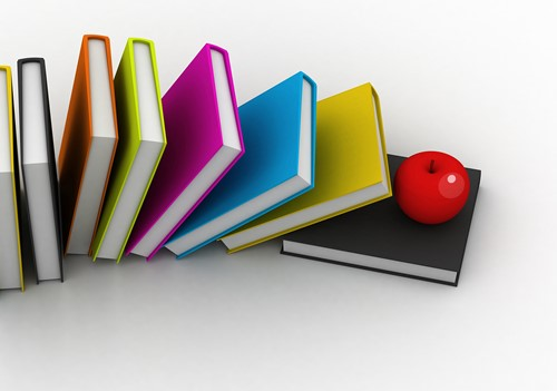 Books with an apple