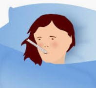 clip art of someone with influenza