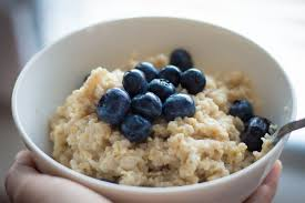 blueberries with oatmeal