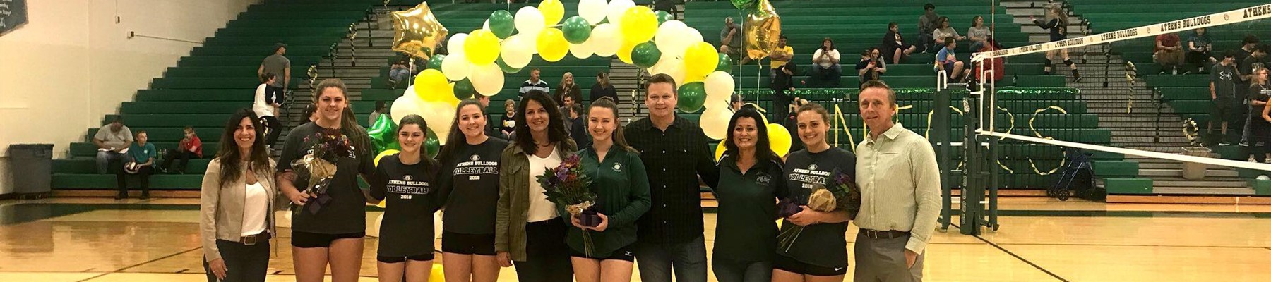 AHS Volleyball Senior Night 2018