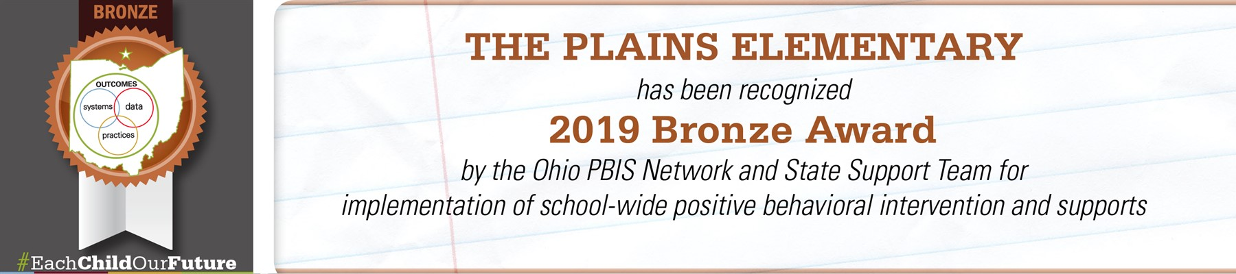 The Plains Elementary 2019 Bronze PBIS Award