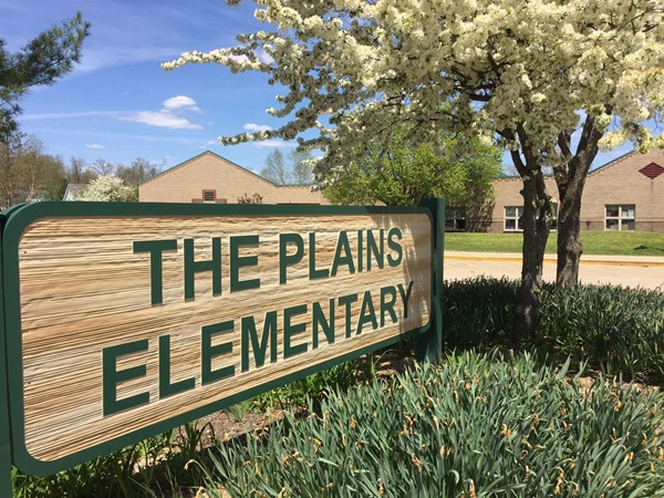 The Plains Elementary Sign