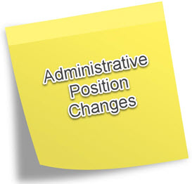 Administrative Position Changes on Post-it Note
