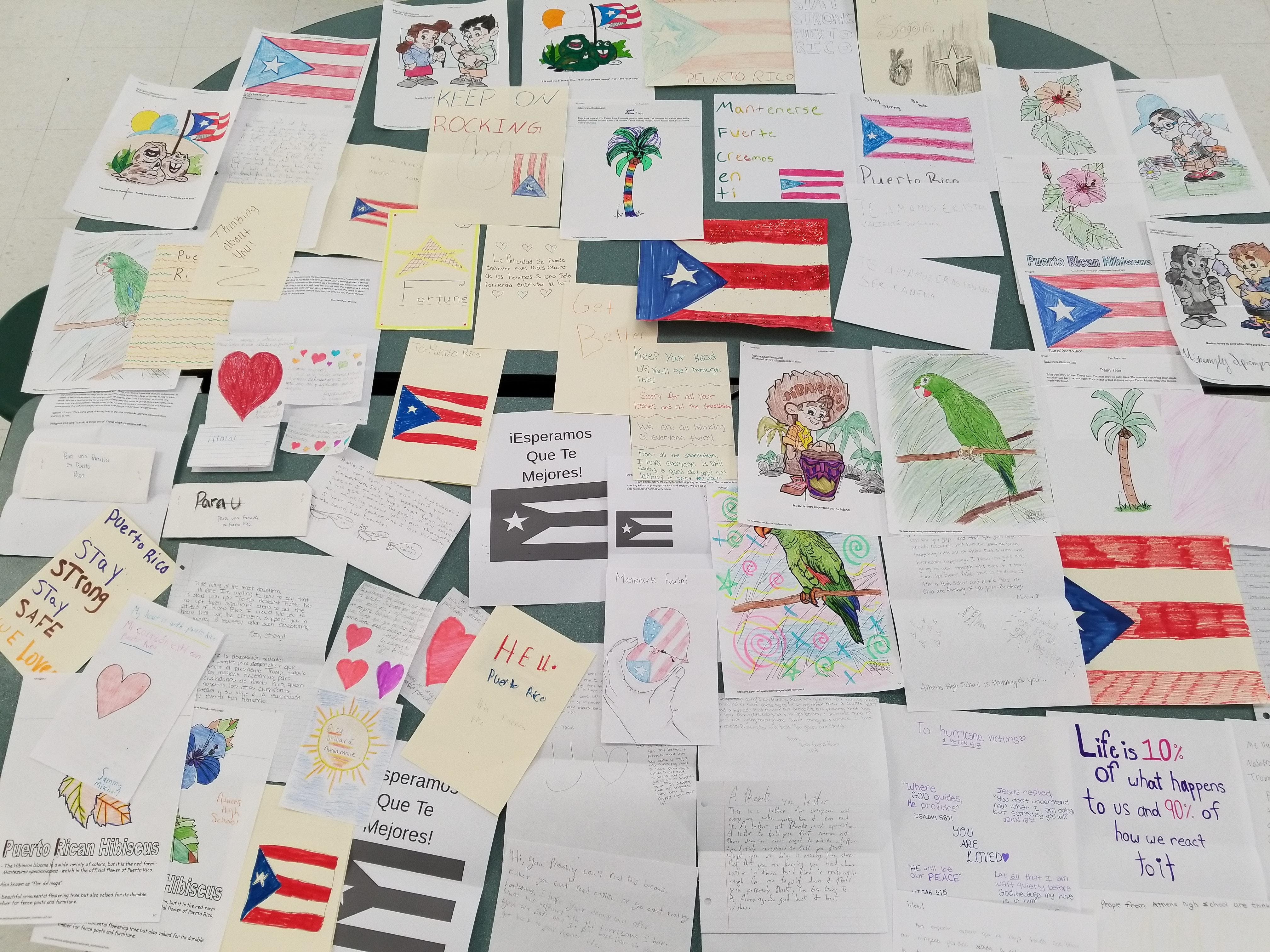Cards for Hurricane Victims in Puerto Rico