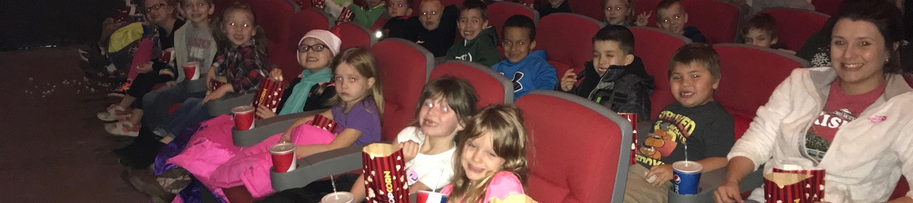 Plains Elementary Students on Field Trip to Movies 10