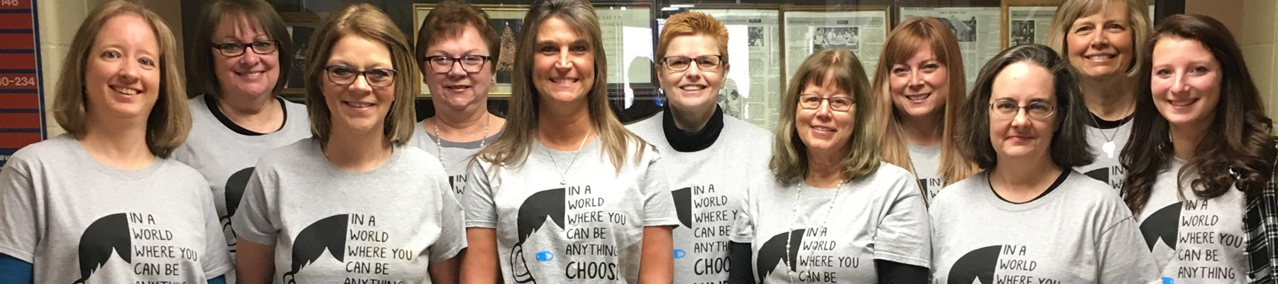 "Some of our MoGo Staff show their Kindness shirts stating, ""In a world where you can be anything, be KIND."""