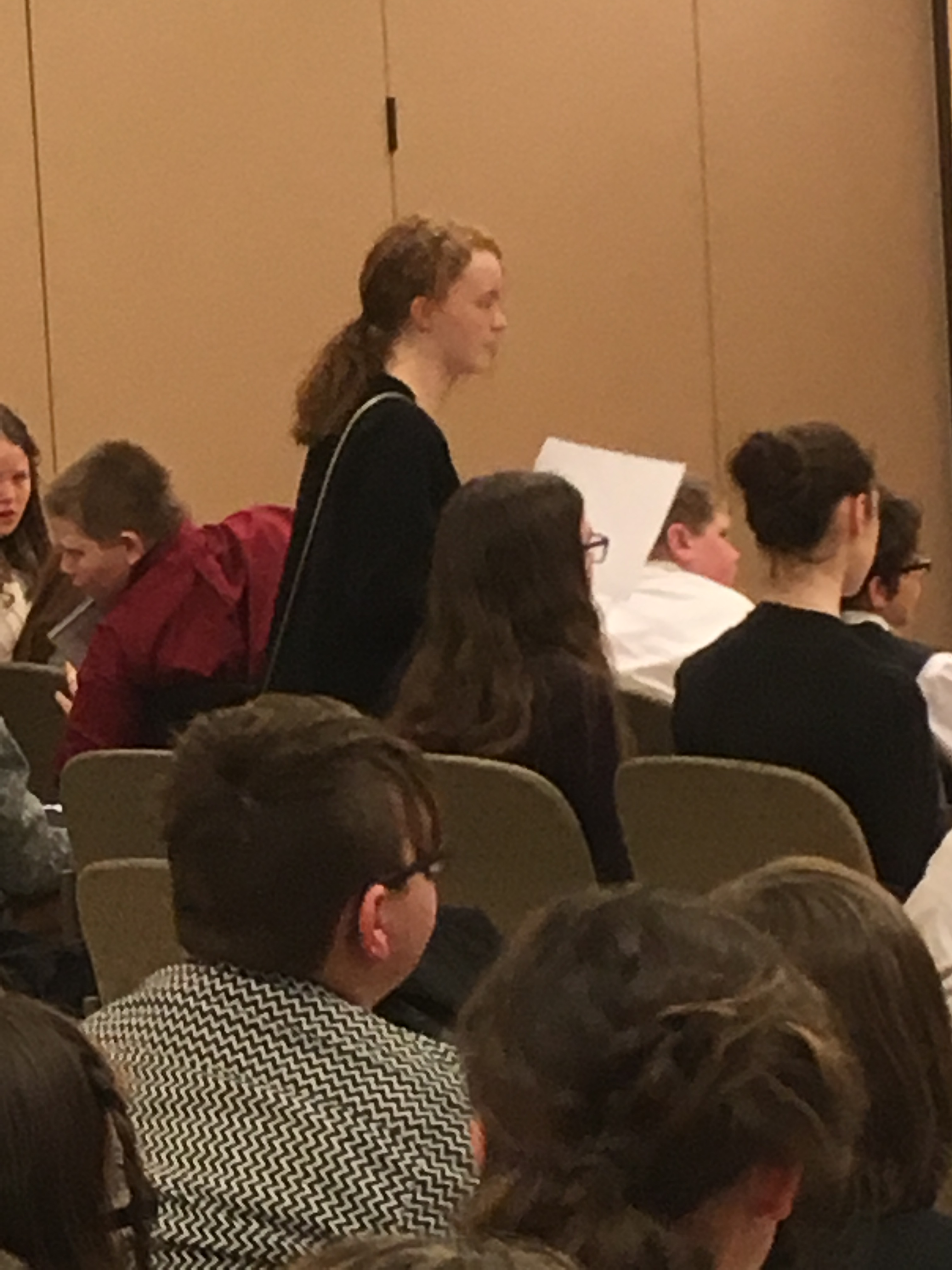 Makena Trentacoste debates at Model UN