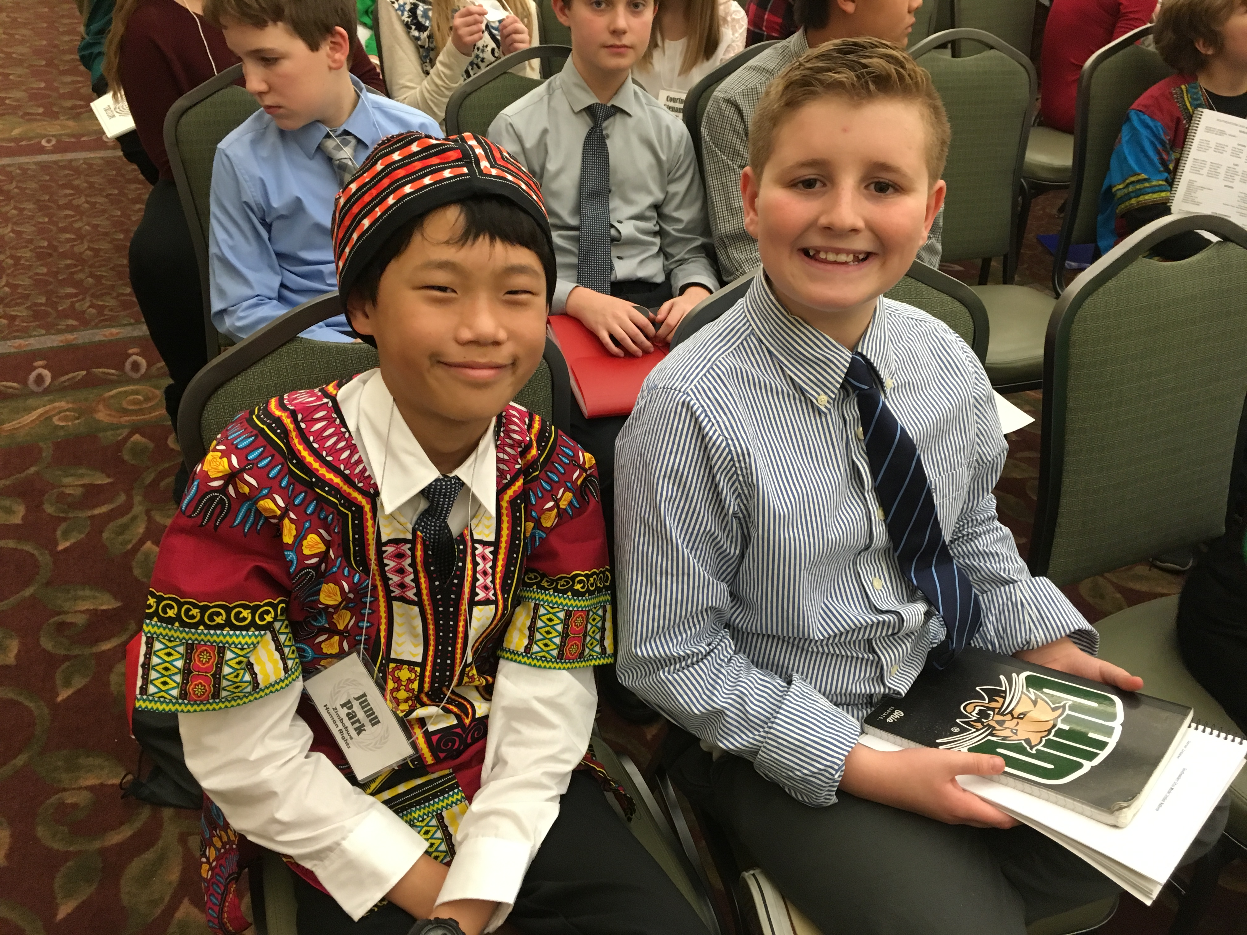6th graders at Model UN General Assembly